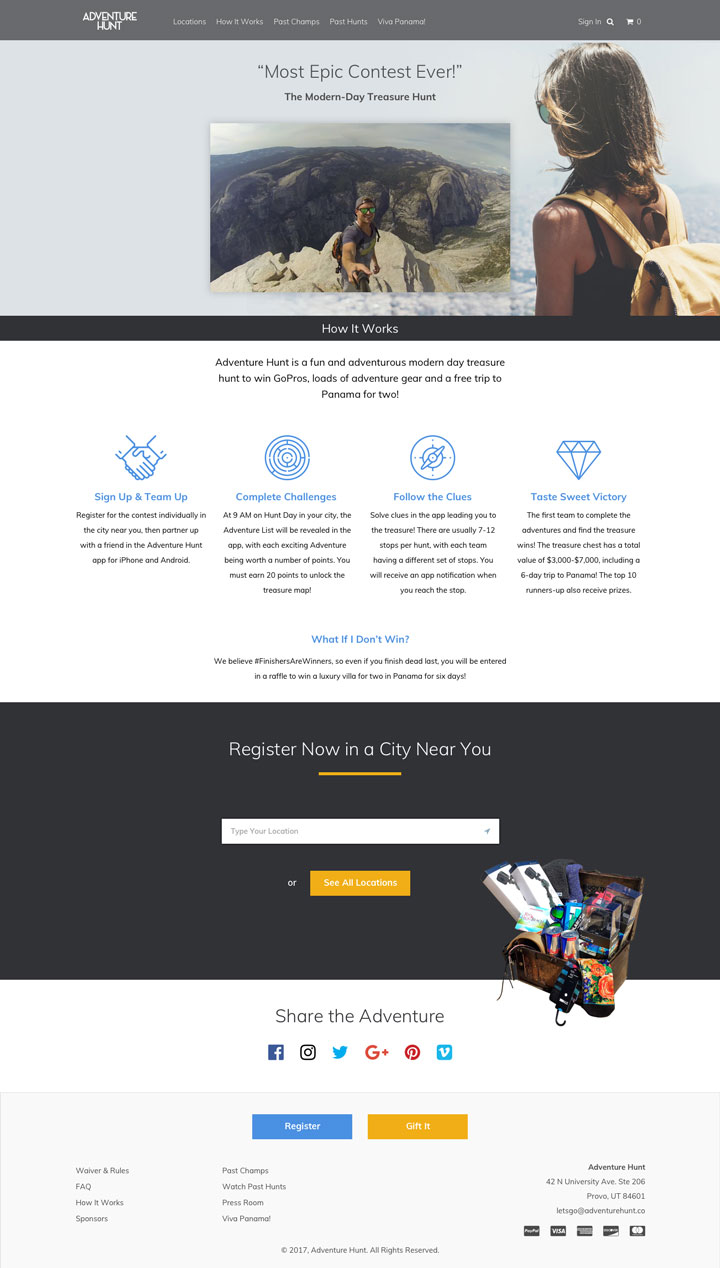 Adventure Hunt How It Works Page